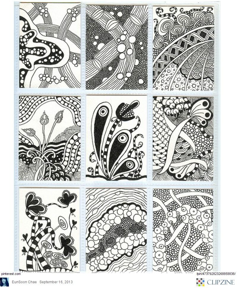 Zentangle Patterns Ideas | Zentangle! | Pinterest | Linea curva ...