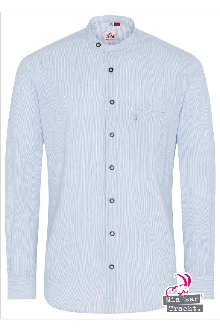 Slim Fit Trachten Stehbundhemd Gestreift Blau Trachtenhemden Trachtenshirts Herren Hemd Strickjacke Mit Zopfmuster Strickjacke Herren