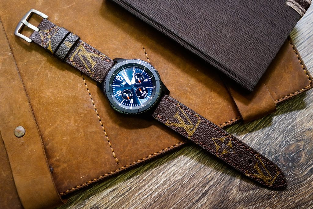 39300b98f6be LV Straps cut from Authentic Louis Vuitton Old Bags Custom Made for Apple  Watch, Panerai, SevenFriday You can choose from Monogram Canvas, Damier  Azure ...