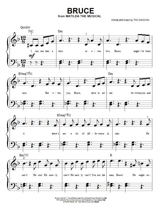 Nouvelle partition piano sur Modern Score !    Tim Minchin: Bruce - Partition Piano Facile    #sheetmusic #piano #TimMinchin #Minchin