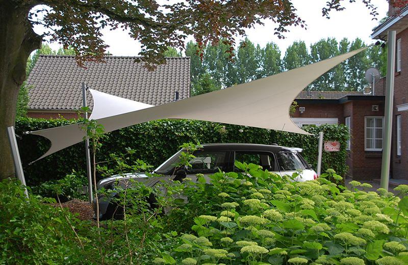 Zeildoekoverkapping als carport | Ideeën voor de tuin | Pinterest