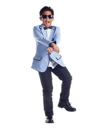 Blue Korean Pop Star Costume - Hilarious!
