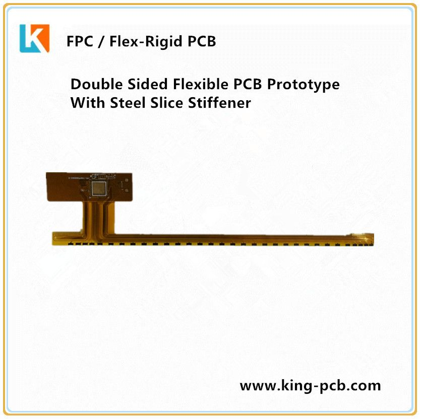 Double Sided Flexible PCB Prototype With Steel Slice