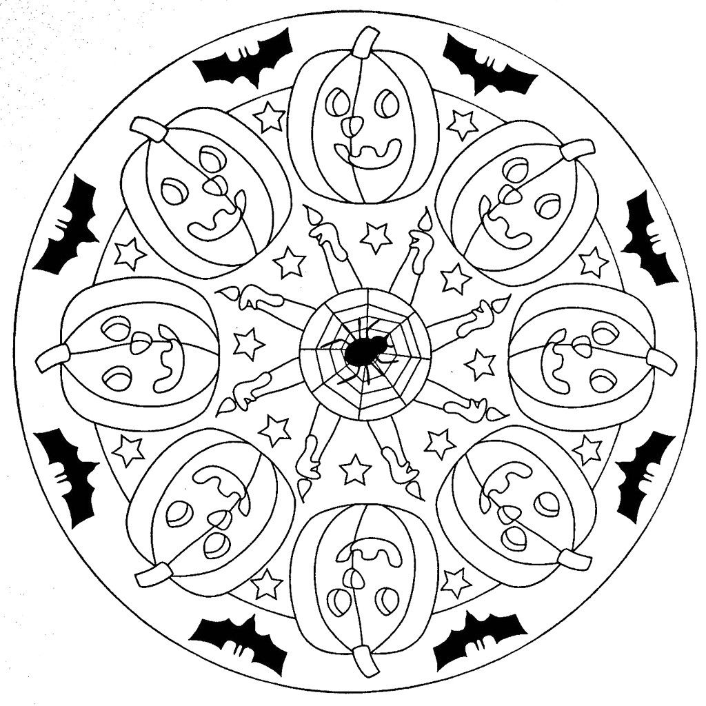 Halloween Mandala Coloring Pages Great Luxury