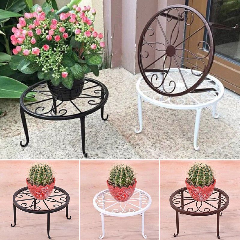 1 X Metal Floor Standing Wrought Iron Pot Plant Stand Flower