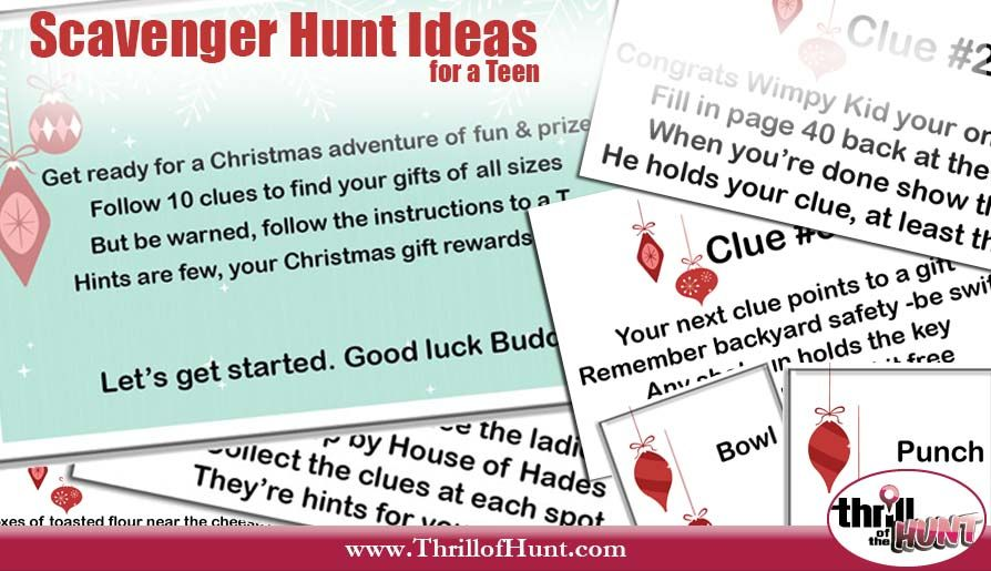 Original Scavenger Hunt Ideas For A Teen Gift Giving Examples