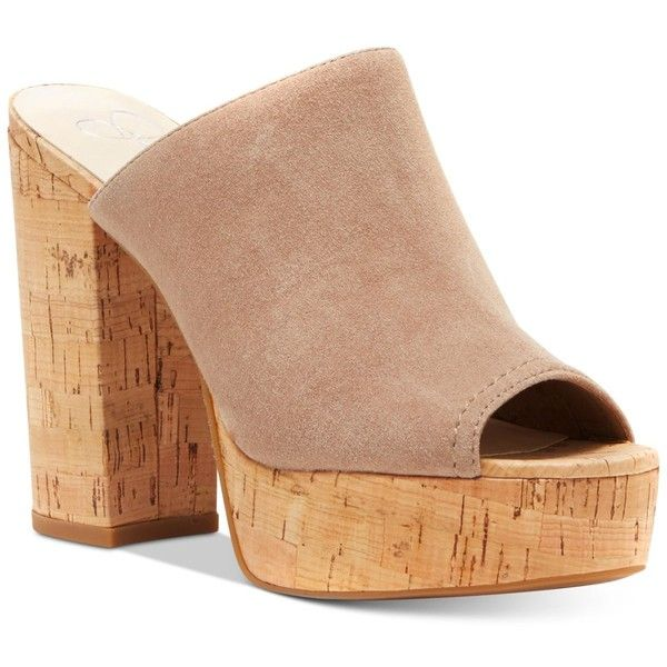 2317175a28e2 Shoe Collection · Beige · Jessica Simpson Giavanna Cork Block-Heel Platform  Mules (285 ILS) ❤ liked on