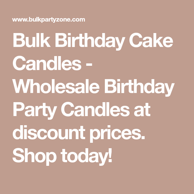 Bulk Birthday Cake Candles