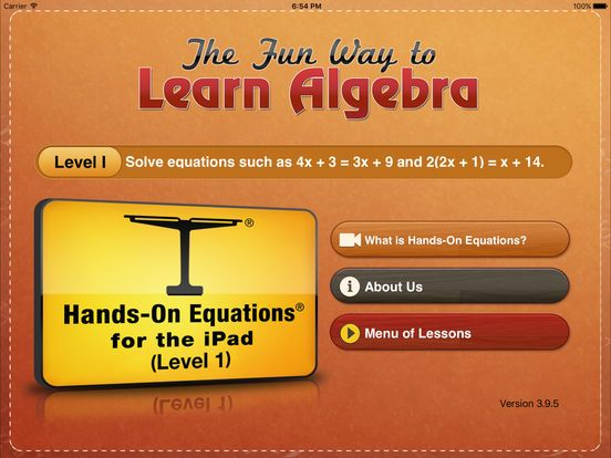 Hands-On Equations 1: The Fun Way to Learn Algebra by Hands On Equations