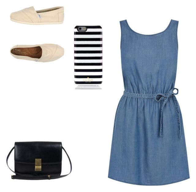 """Untitled #15"" by kmunar on Polyvore featuring Oasis, TOMS and Kate Spade"