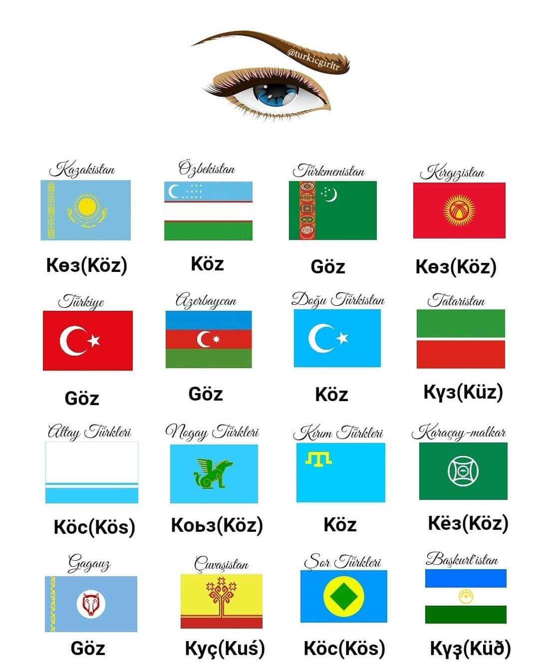 Turkic Languages Turk Dilleri