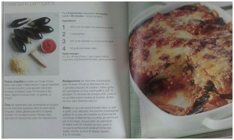 """Melanzane parmigiana - tiré du livre """" 100 plats végétariens en 5  ingrédients"""" des éditions"""