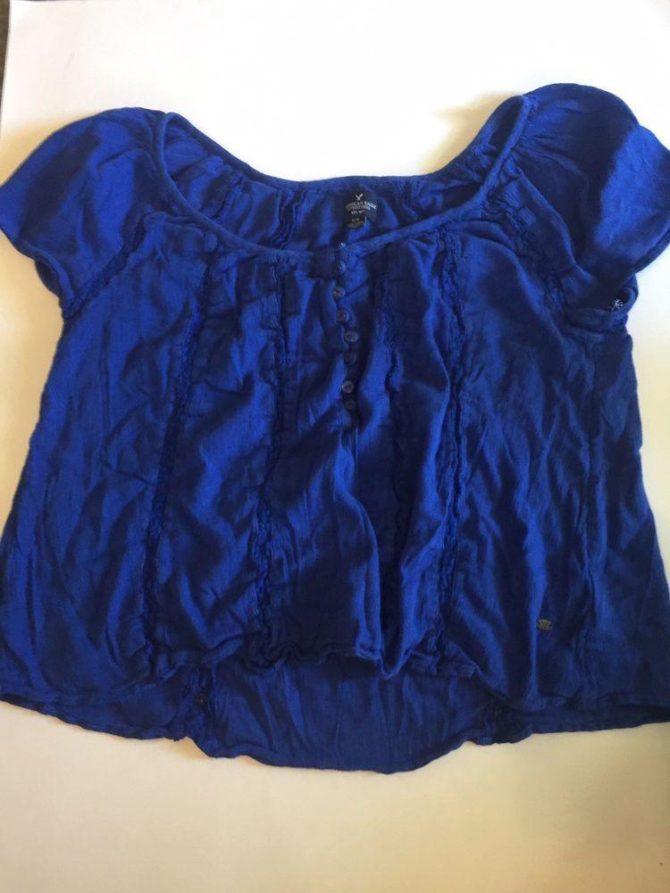 5036266cf6 American Eagle Royal Blue Crop Top Small #fashion #clothing #shoes  #accessories #womensclothing #tops (ebay link)