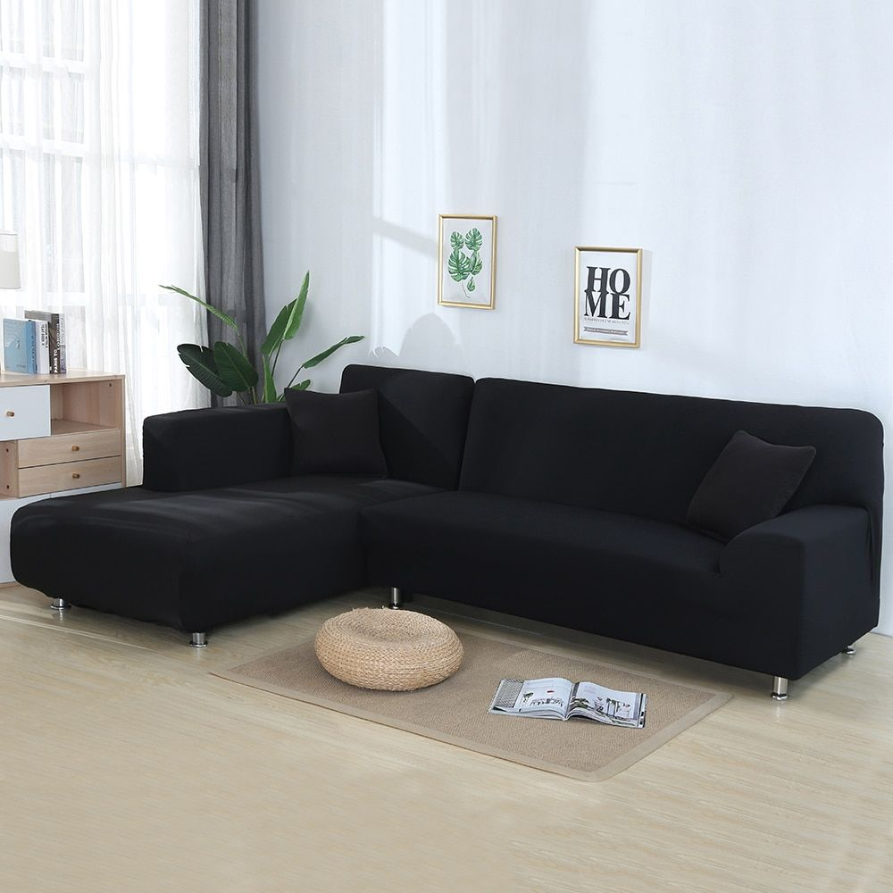 2pcs Sofa Covers For Corner Sofa L Shaped Sofa Living Room Sectional Chaise Longue Sofa Slipc Corner Sofa Covers Corner Sectional Sofa Couch Covers