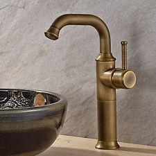Guma Vintage Antique Brass Finish Bathroom Basin Faucet Single