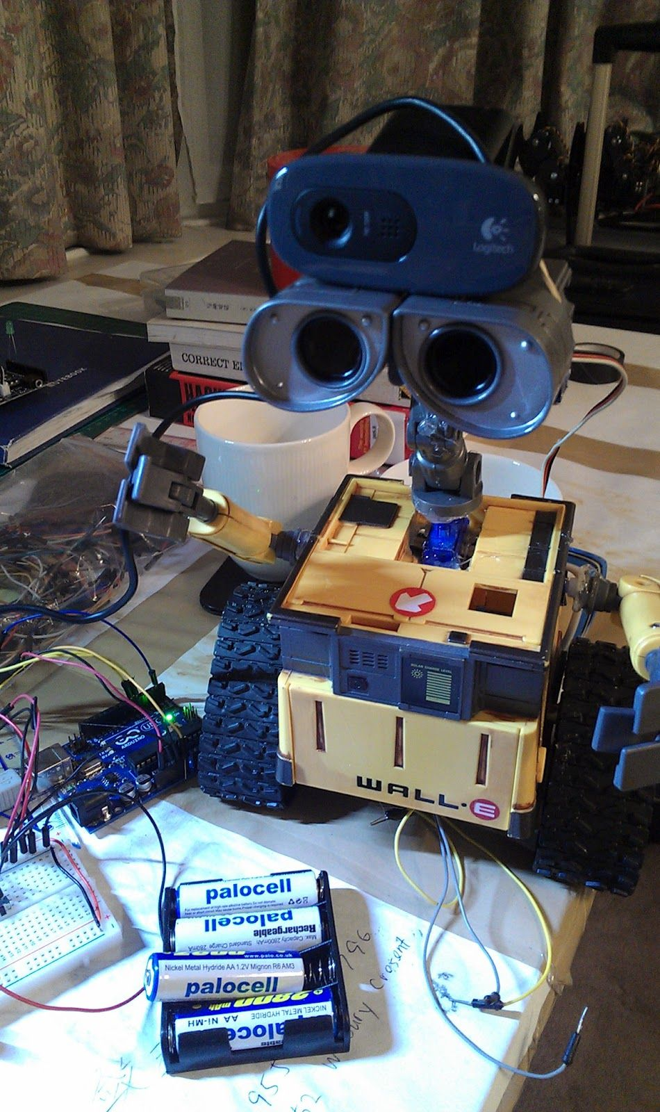 Wall e robot build your own arduino diy voice