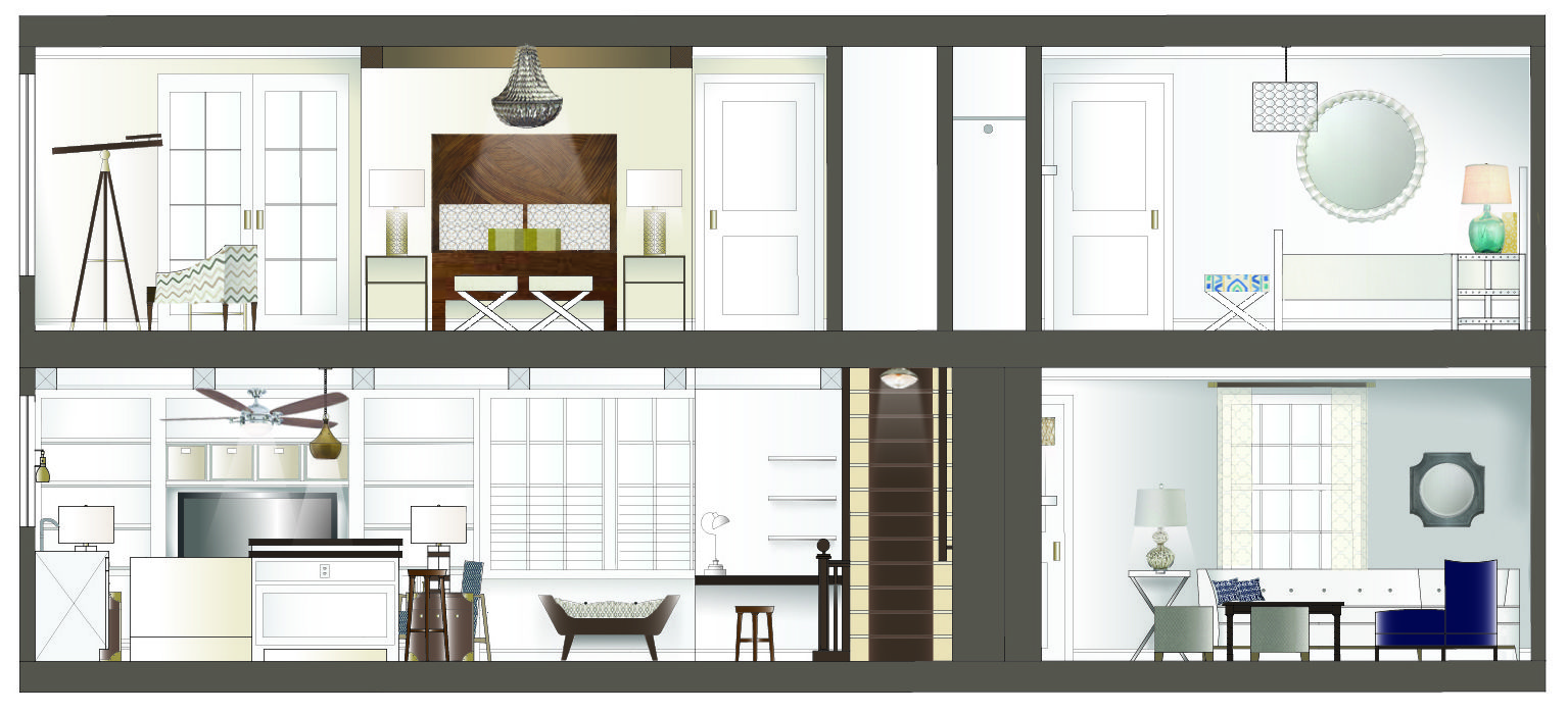 Interior design section drawings google search for Interior designs drawings