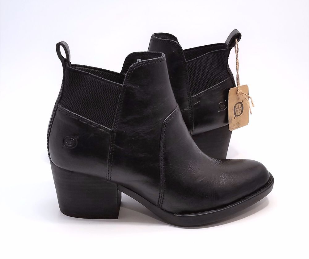 Born Garcia Womens Ankle Boots Black