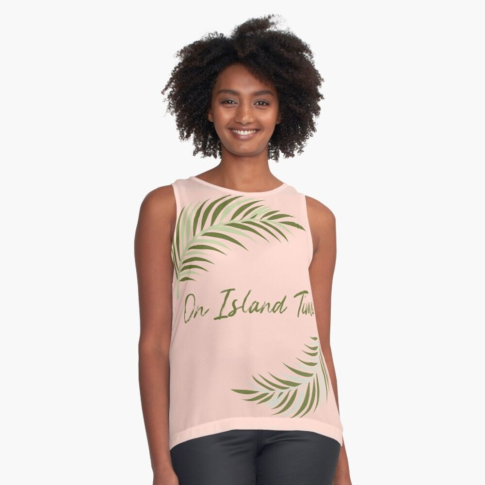 #onislandtime #beachtop #summertop #sleevelesstop #tropicaltop #tropical #hawaiiprint