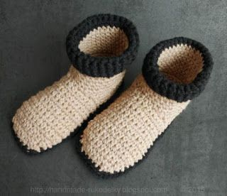 MY HAND MADE STUFF - MOJE RUKODELKY: Crocheted Slippers US size 7-9
