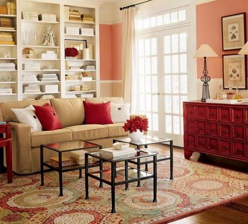Red Tan Living Room Color Peach Living Rooms Living Room Color Schemes