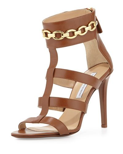 DIANE VON FURSTENBERG Uma Chain-Link Sandal. #dianevonfurstenberg #shoes #sandals