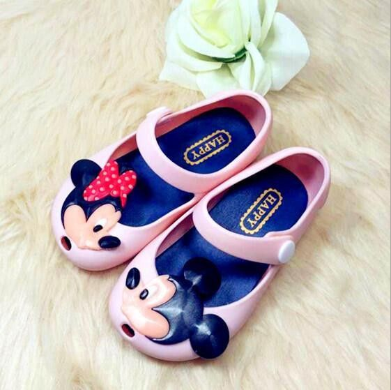 2c8286bf2c76 Minnie and Mickey Mouse Kids Jelly Shoes