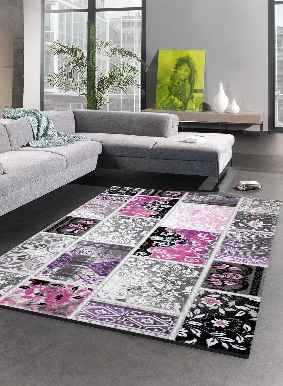 Tapis de salon VINTAGE TENDANCE violet | Et le tapis violet ...