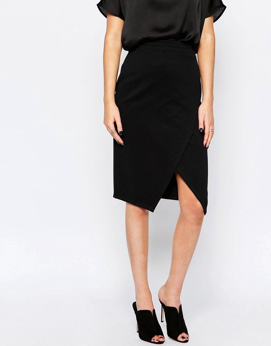 Image of new look wrap front pencil skirt style pinterest