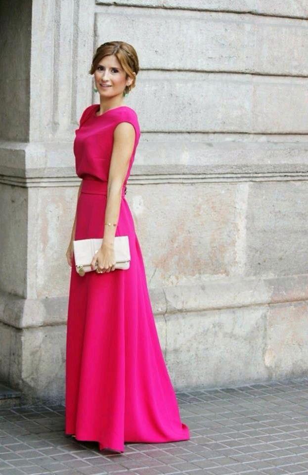 Vestido Fiusha En 2019 Vestidos Largos Vestidos De Noche