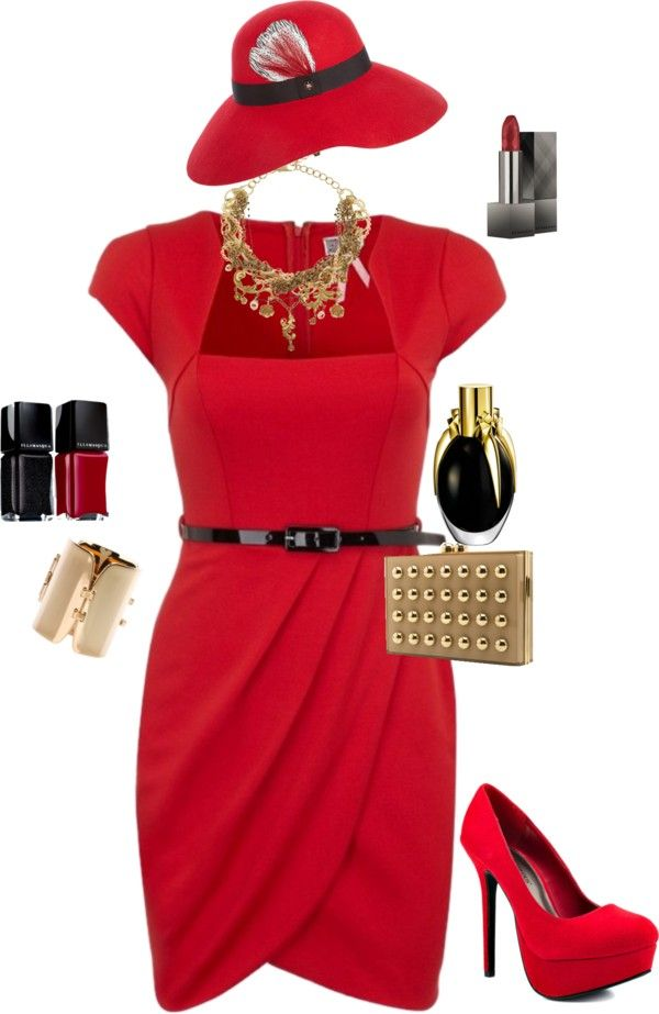 """Red! Gold! Black!"" by erin-nyren on Polyvore"