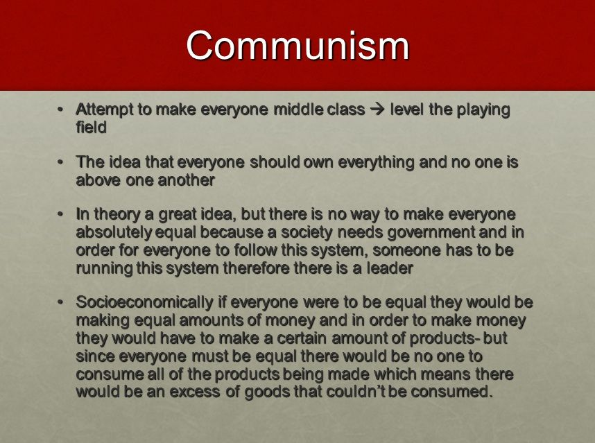 Communism Powerpoint   Communism   Communism, Equality