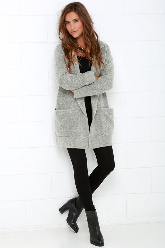 Dublin Dew Grey Oversized Sweater Jacket | Gray, Clothes and ...