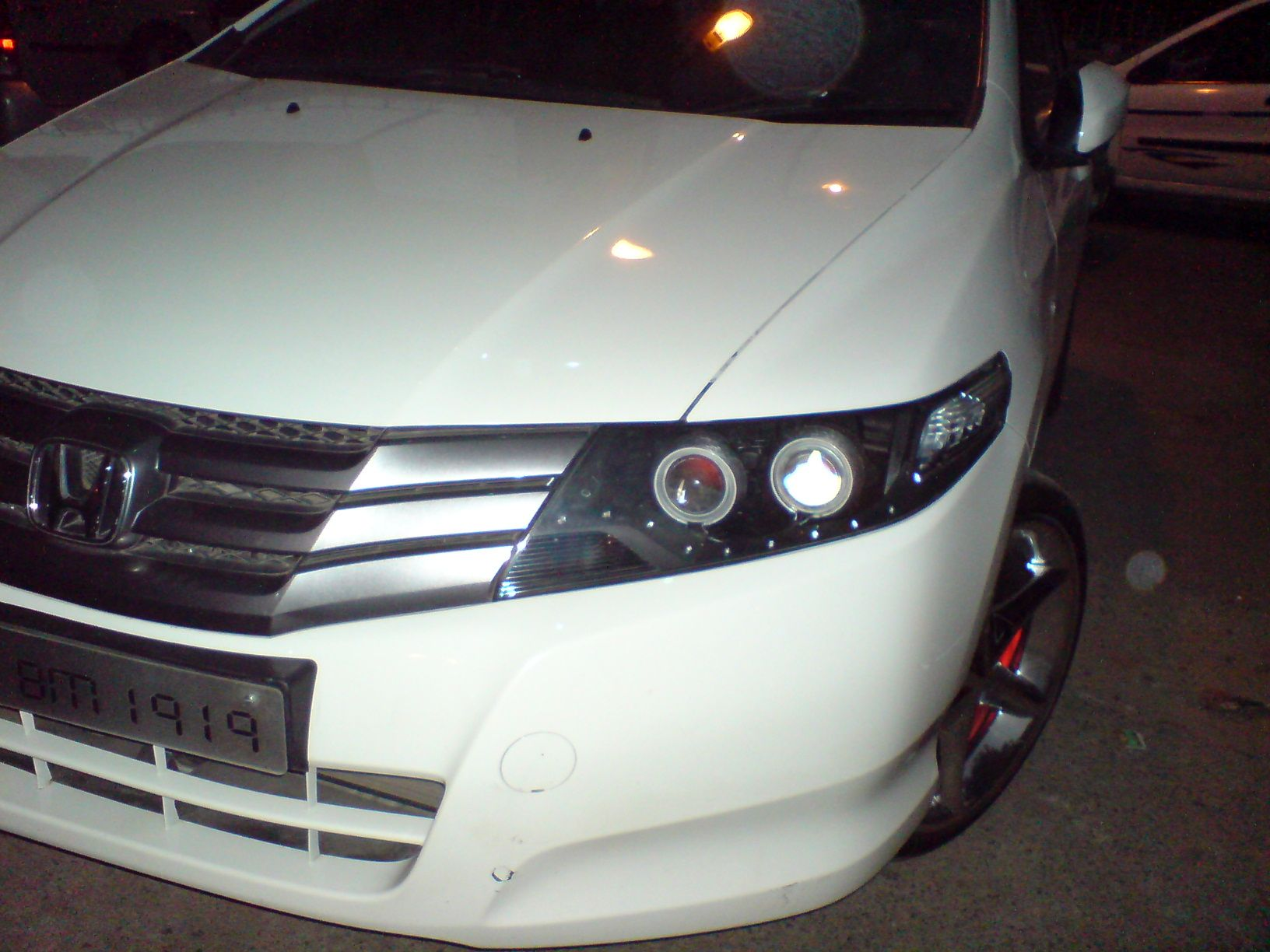 honda city ivtec customised projector headlights with projector angel eye and leds [ 1632 x 1224 Pixel ]