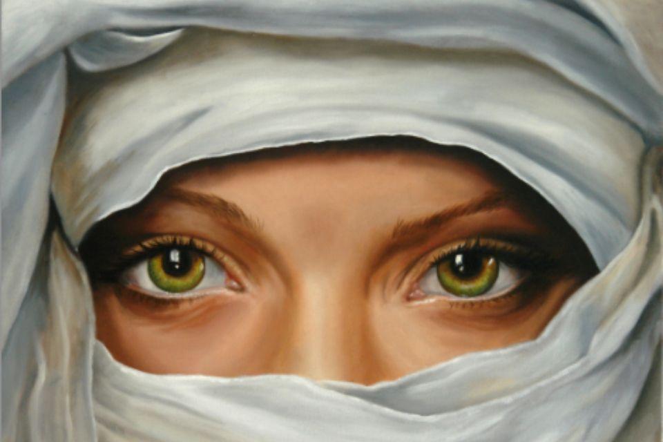 Es un óleo es arte, pero también es ojos, turbante y mirada.