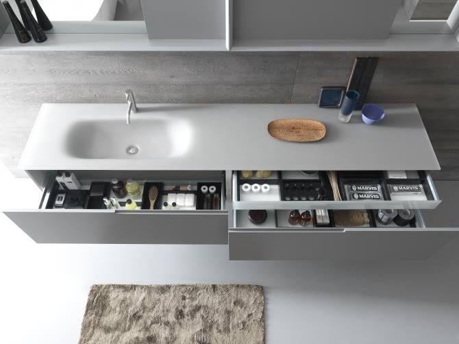Cassetti bagno ~ Top e mobili in vetro per il tuo bagno modulnova inspiration for