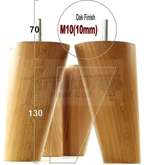 4x SOLID WOOD FURNITURE FEET LEGS FOR SOFAS CHAIRS STOOLS CABINETS /& BEDS M10