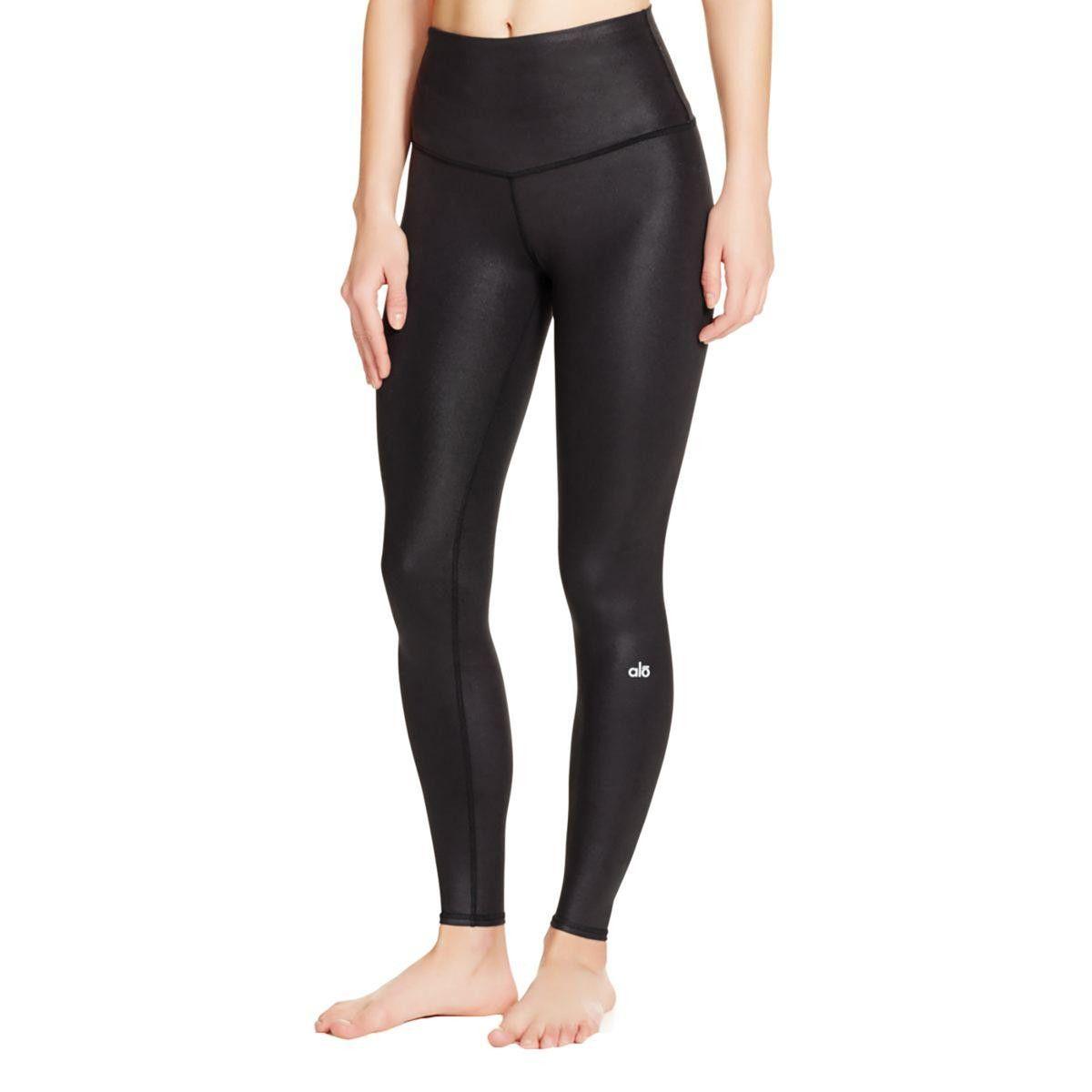 Alo Womens Shimmer High Waist Yoga Pants