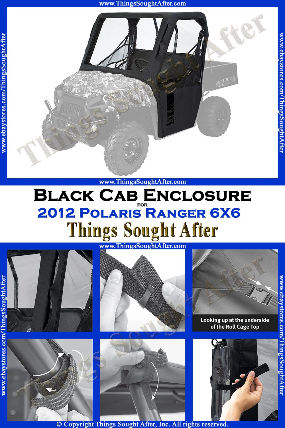 Provides Protection For The Passenger Compartment From Mud Rain Snow Wind And Overhead Sunlight Zippered Doors Are Completely Polaris Ranger Black Cab Cab