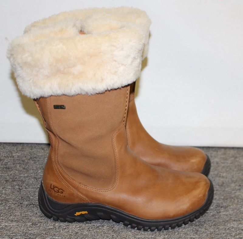 a4b50b05301 Details about UGG Australia 5497 Tan Leather Gore-Tex Boots Side ...