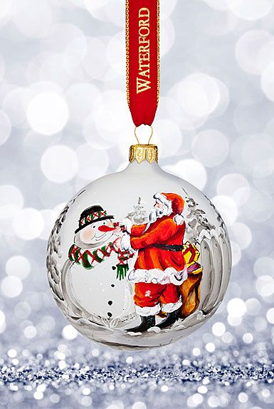 Waterford 2017 Holiday Heirloom Nostalgic Collection Magic of Christmas  Ball Ornament - Waterford Crystal, 2017 Holiday Heirloom Magic Of Christmas Ball