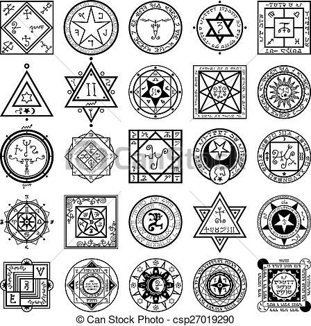 Vector - Set of Magic and Alchemy Sigils Vectors - stock