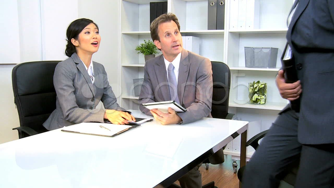 Business Meeting Corporate Client Stock Footage Corporate Meeting