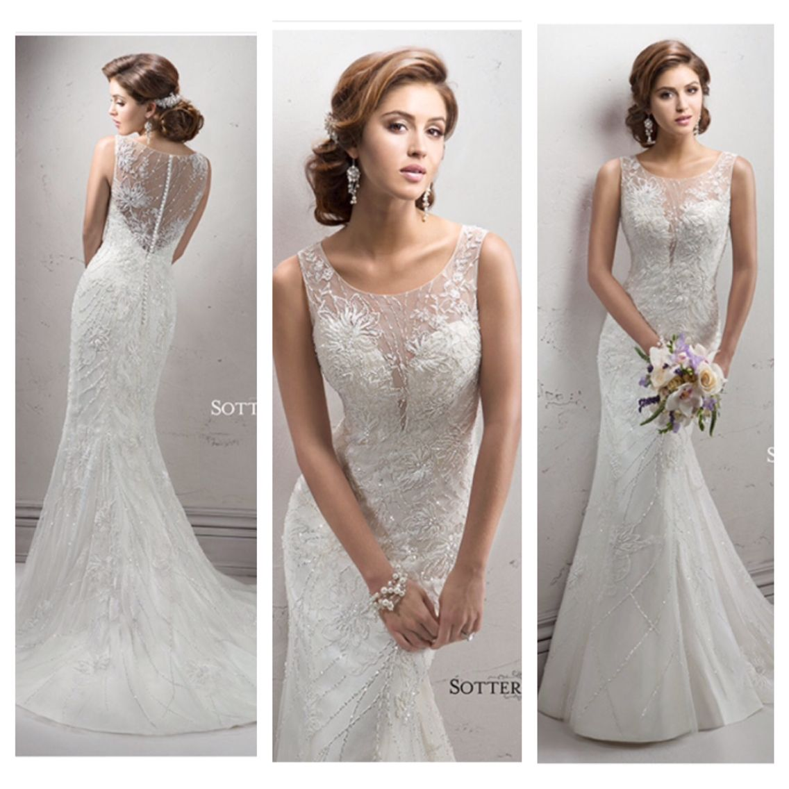 Slim fit wedding dresses  Shanene by Sottero and Midgley  Maggie Sottero Favourites