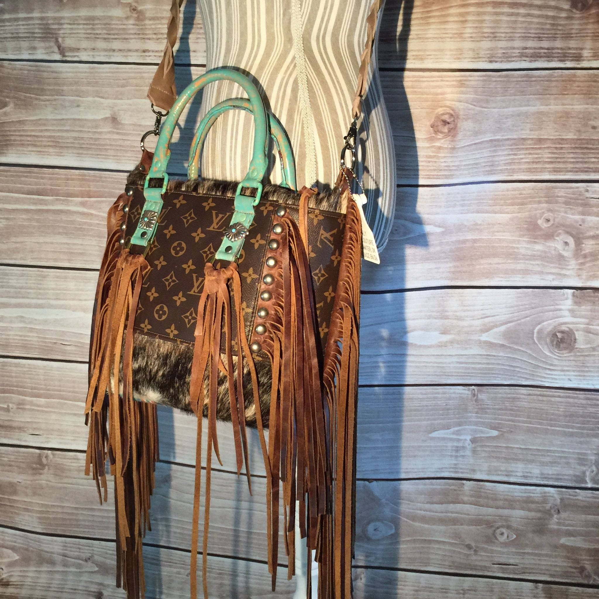 Holy Cow Couture Lv Fringe Handbags Purse Tote Purses And