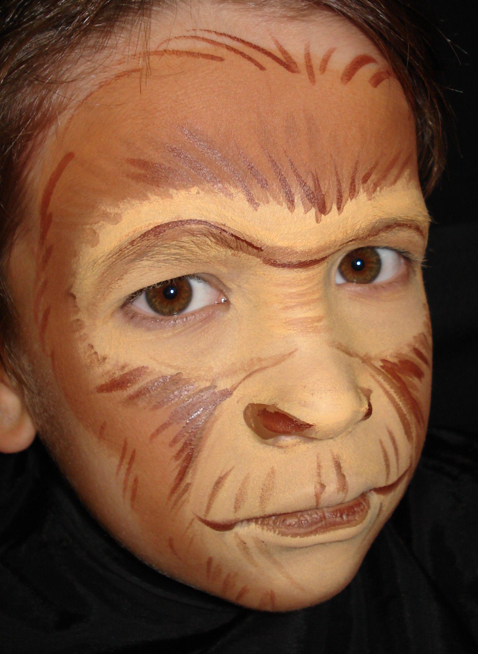 Monkeys | face painting | Pinterest | Monkey face paint ...