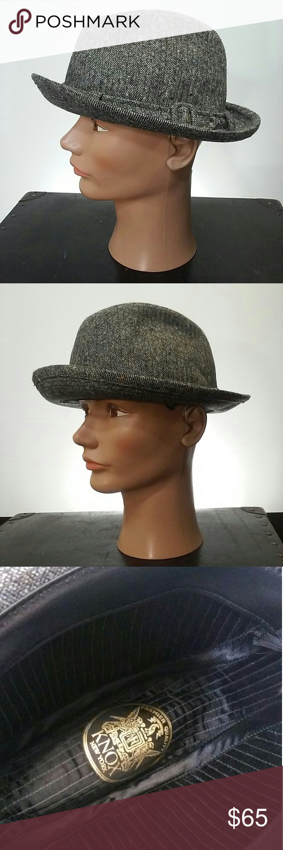 Knox Fedora Trilby Hat Tweed Wool Gangster Classic Classic style with this  Knox 9efb6b804b0