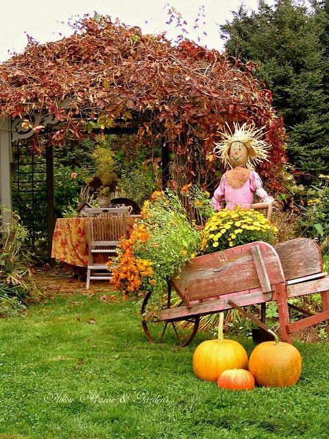 Aiken House  Gardens Fall Favs Rustic Country Garden Pinterest - pinterest halloween yard decor