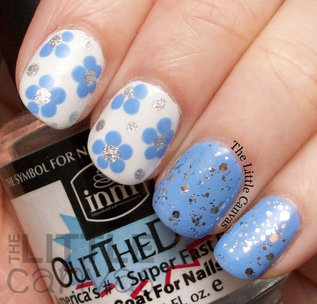 The little canvas dot flower manicure with fingerpaints sterling