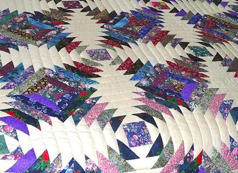 Amish Handmade Quilt Pineapple Log Cabin Pattern | Quilt ideas ... : handmade quilt patterns - Adamdwight.com